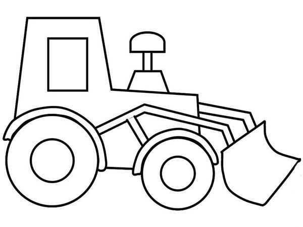Bulldozer Bulldozer Picture Outline Coloring Page Truck Coloring Pages Cars Coloring Pages Coloring Pages For Kids