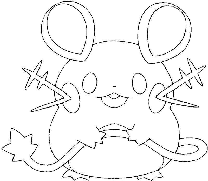 Coloriage Pokemon X Et Y Dedenne 1 Coloring PagesAdult