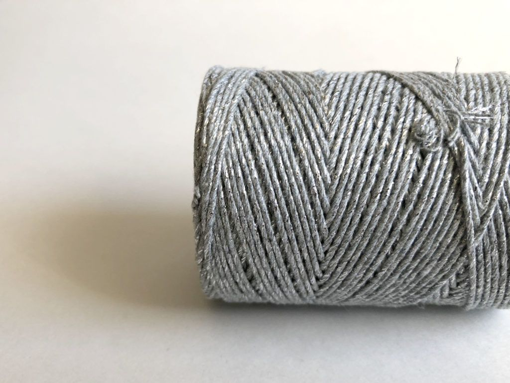 2mm 2 Strand Silver Macrame Projects Macrame Cord Fiber Art