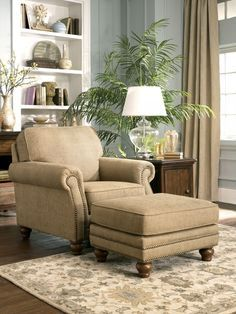 This Would Be The Perfect Reading Chair And Ottoman. Put It In A Corner In  Front Of A Sunny Window And Open A Good Book. By Chrystal