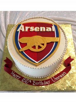Arsenal Soccer Birthday Cake Cakespiration Pinterest Soccer