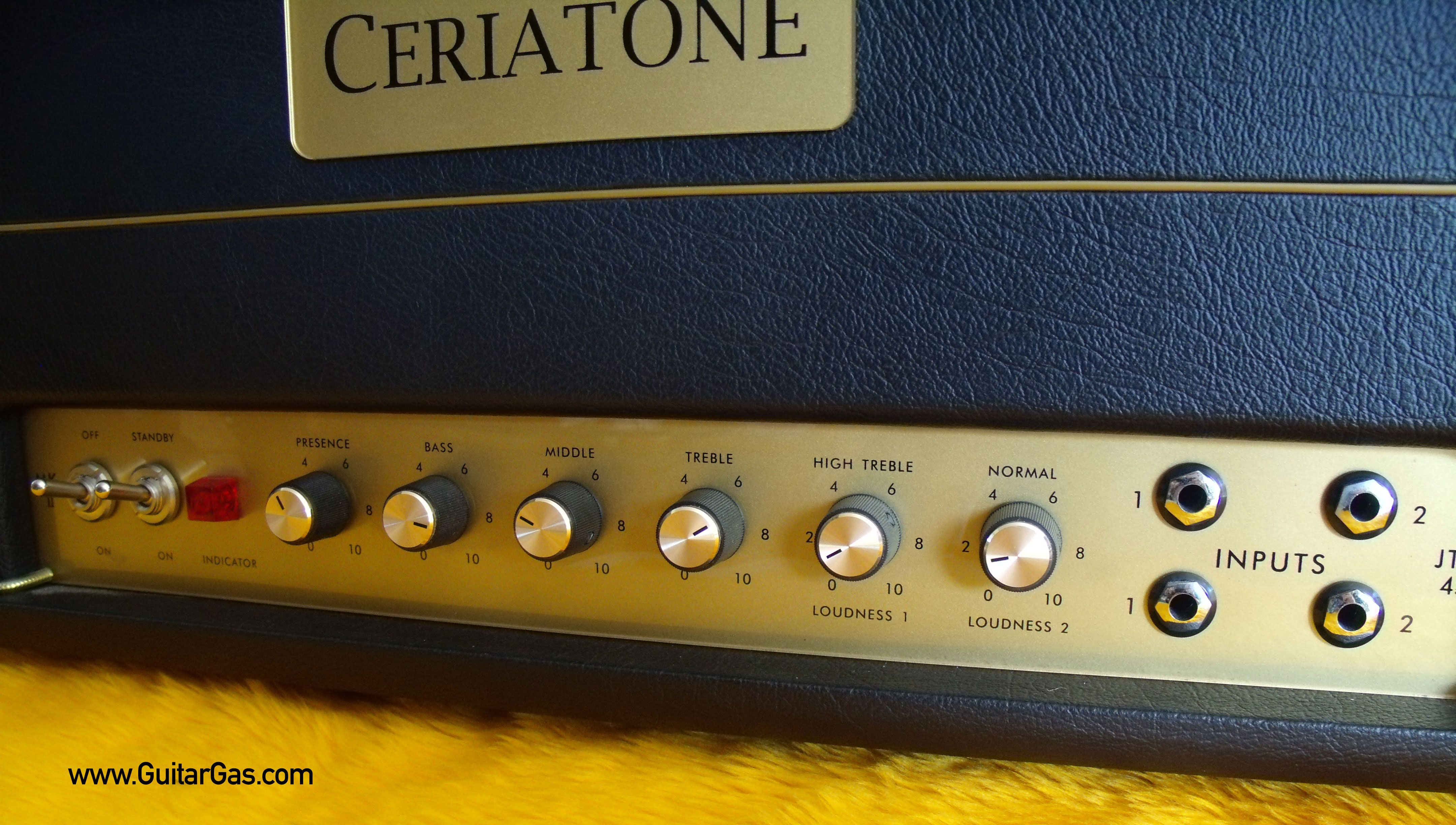 Ceriatone JTM45 Inputs and Controls   Ceriatone JTM45 Clone