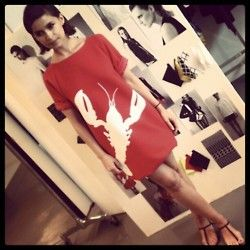 tibi lobster dress