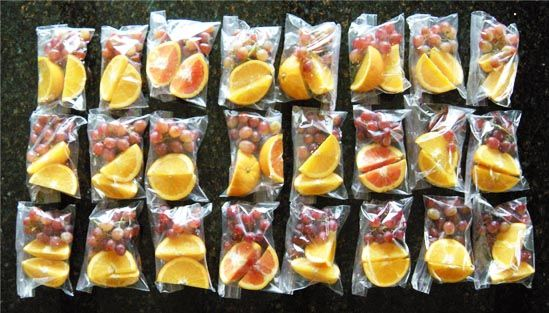 a simple idea for a healthy team snack for your upward sports team