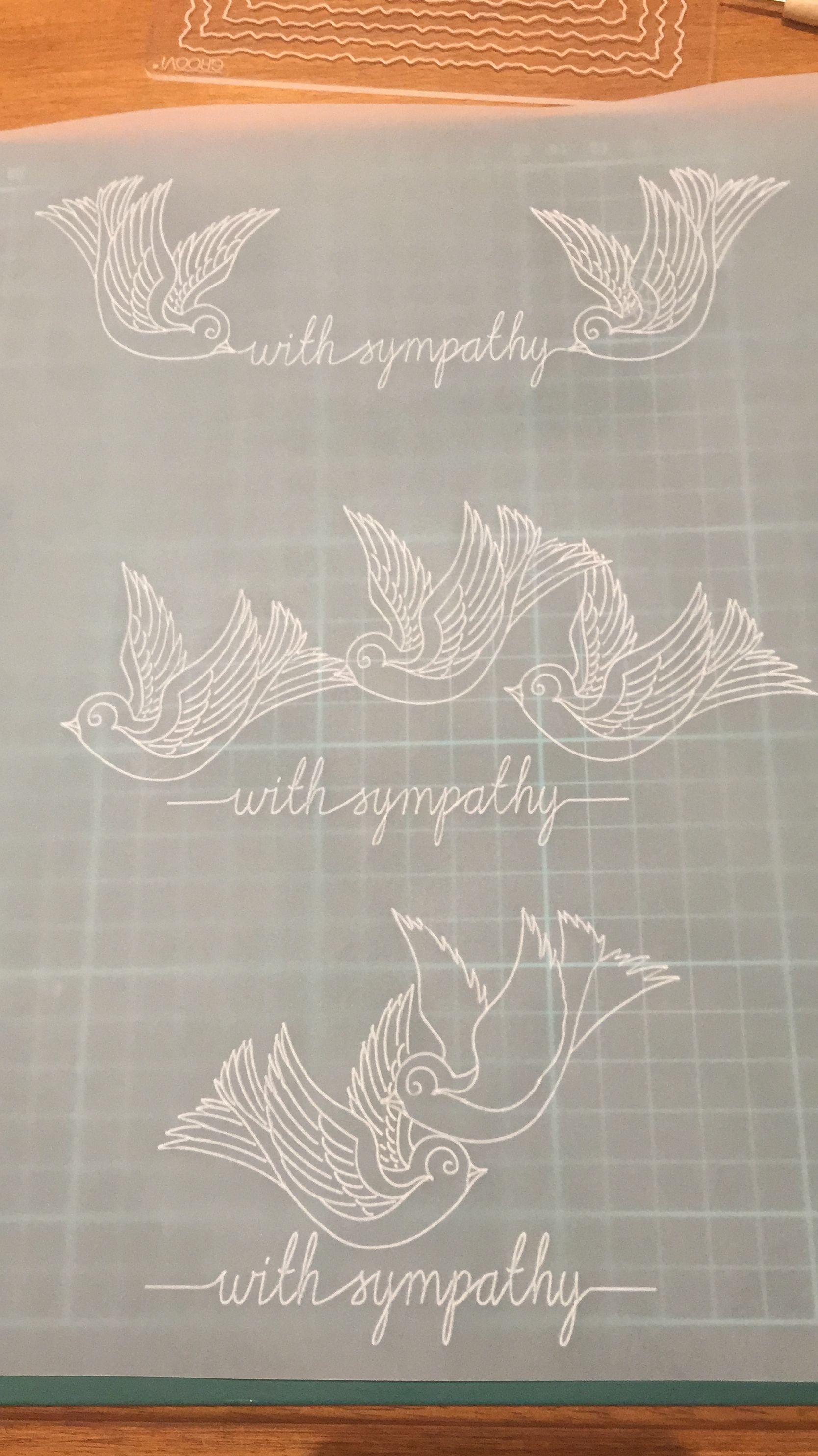 designed by delythlouise with sympathy doves groovi sadly bulk creating sympathy cards - Bulk Sympathy Cards