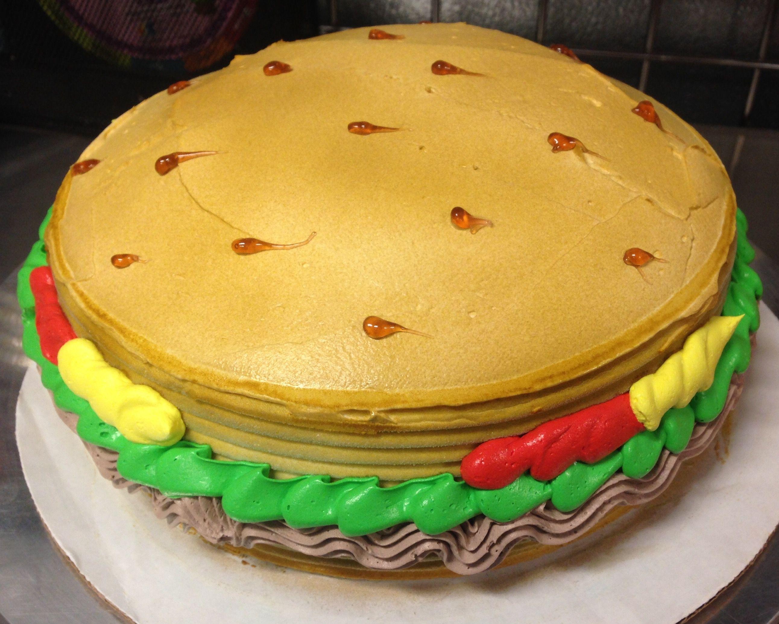 Burger dq ice cream cake my cakes pinterest cream