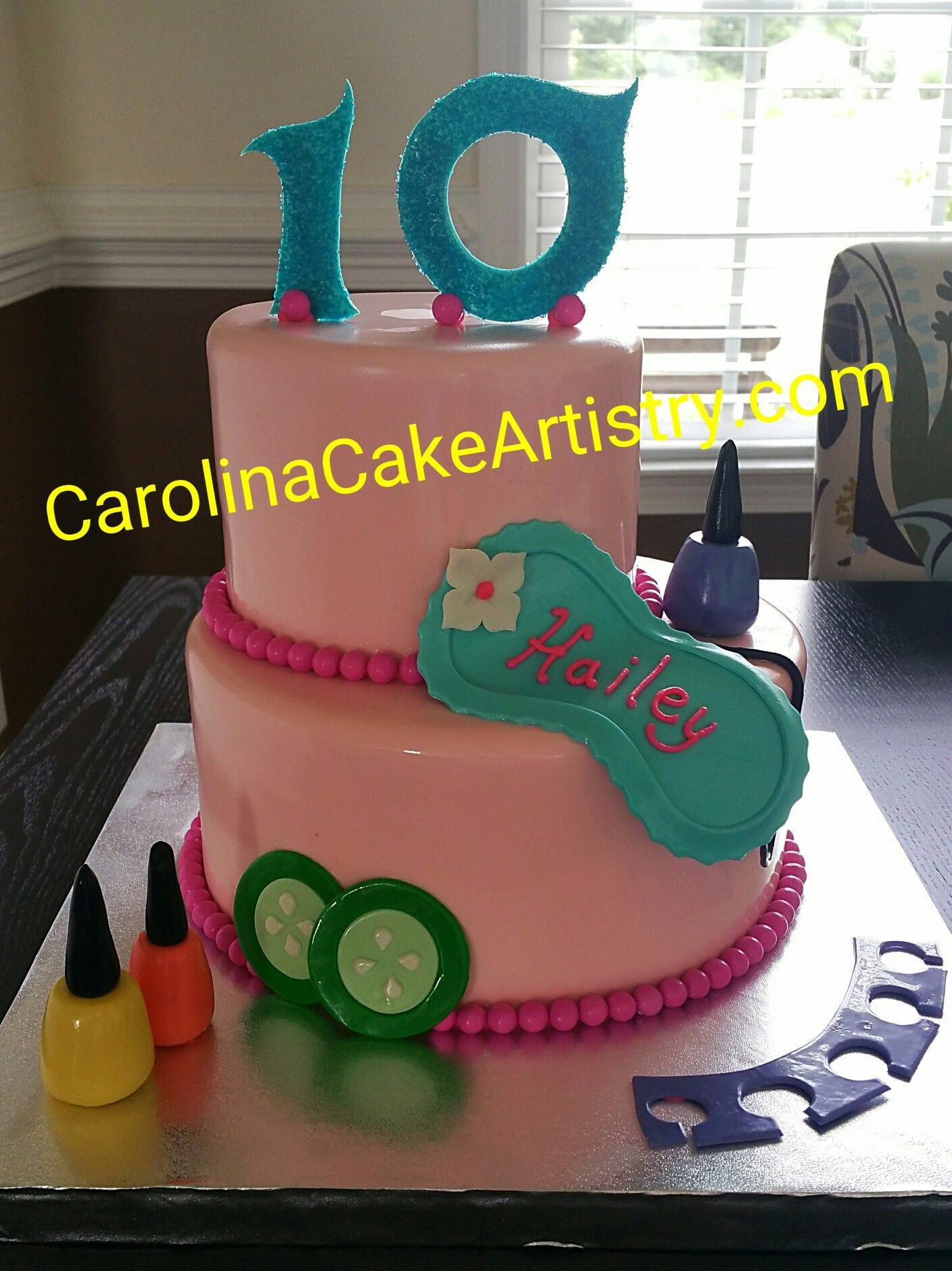 Super cute Spa cake for a 10th birthday girl, it's all ...