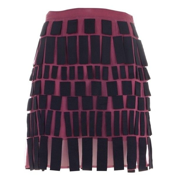CHRISTOPHER KANE RIBBON SKIRT BURGUNDY/BLACK SILK 002004345 (2.455 BRL) ❤ liked on Polyvore featuring skirts, mini skirts, bottoms, women, ribbon skirt, silk skirt, burgundy skirt, christopher kane and silk mini skirt