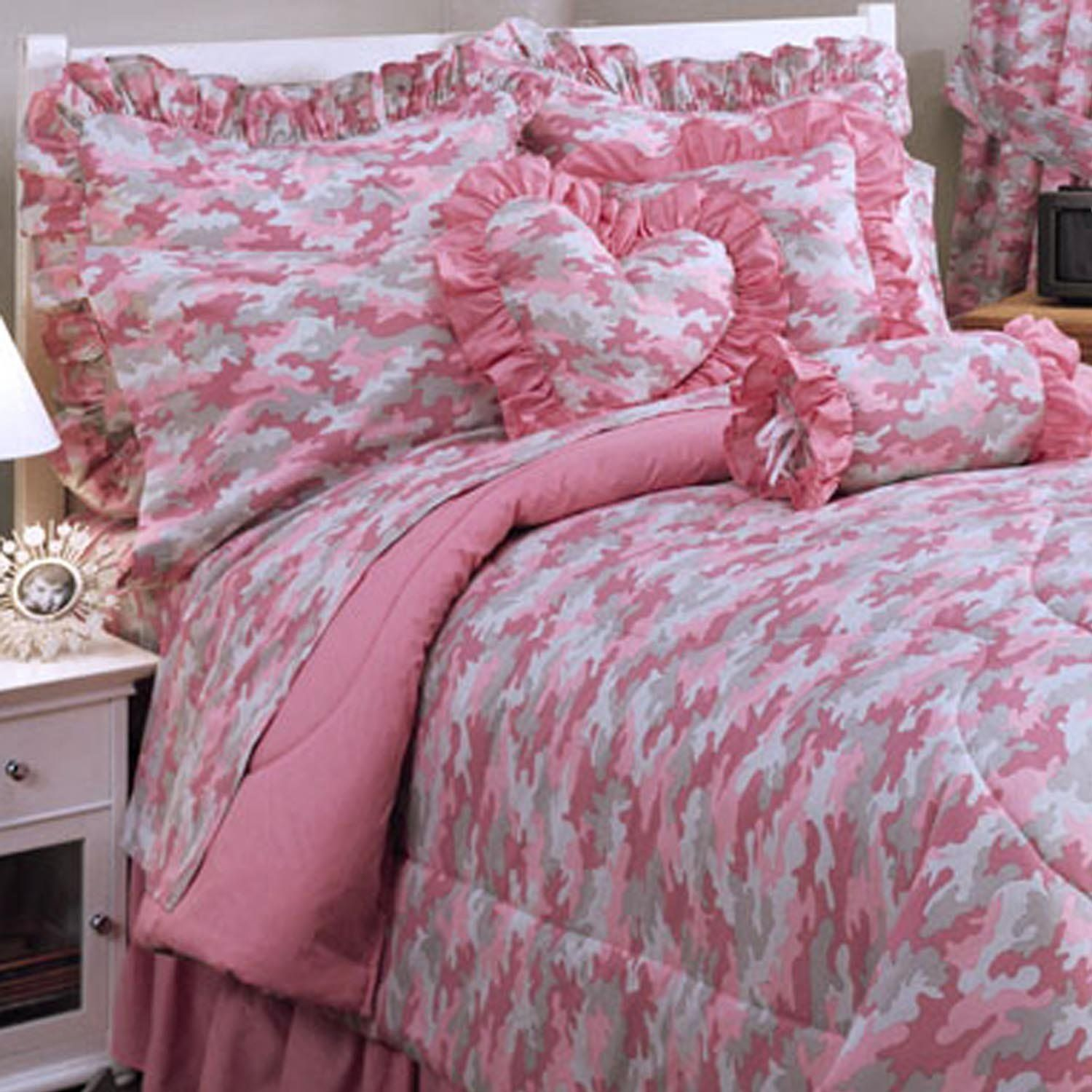 Twin Pink Camo forter and Sheet Set