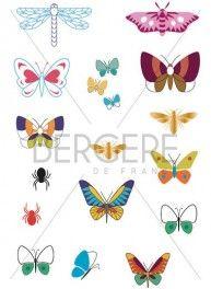 Planche pour customisation Papillons, 21 x 30 cm, Bergère de France