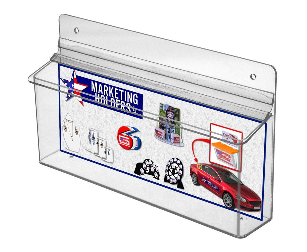 Wall mount horizontal brochure outdoor tri fold holder 11 x 4 wall mount horizontal brochure outdoor tri fold holder 11 x 4 literature maps marketingholders reheart Image collections