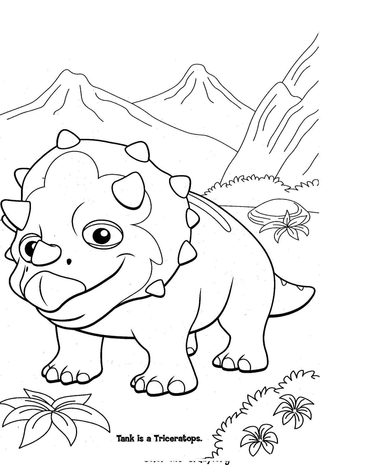 Real looking dinosaur coloring pages - Dinosaur Train Coloring Pages Dinosaur Train Also Gives Out Children All Information About Another Dinosaurs Like Brachiosautus Gigantosaurus