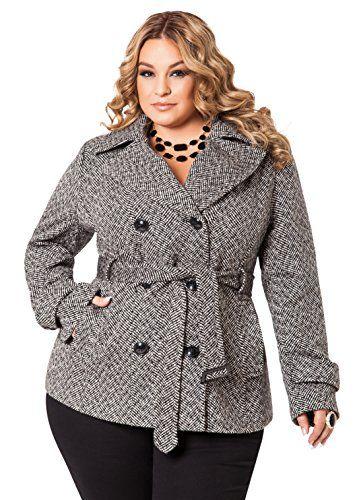 cf5a2669eaf Fashion Bug Womens Plus Size Tweed Peacoat  bbw www.fashionbug.us  PlusSize   Jackets