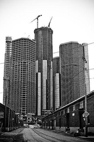 Renaissance Center Under Construction In Downtown Detroit Been