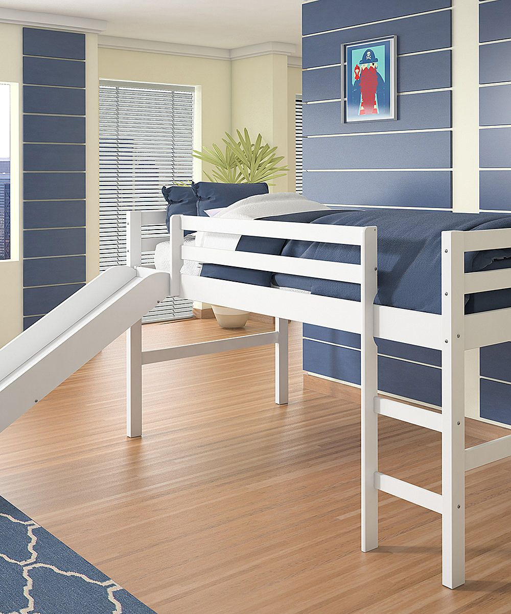 White Pine Loft Bed & Slide Bed with slide, Loft bed