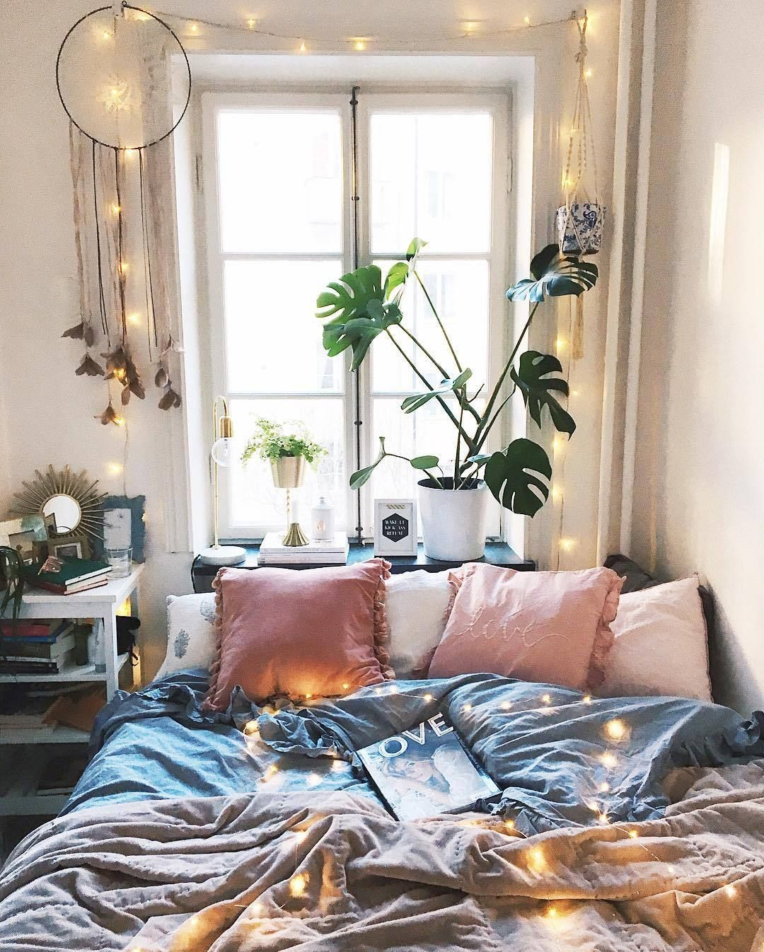 Graues Zimmer Boho And Indie Room Inspirations Room Ideas Romantisches