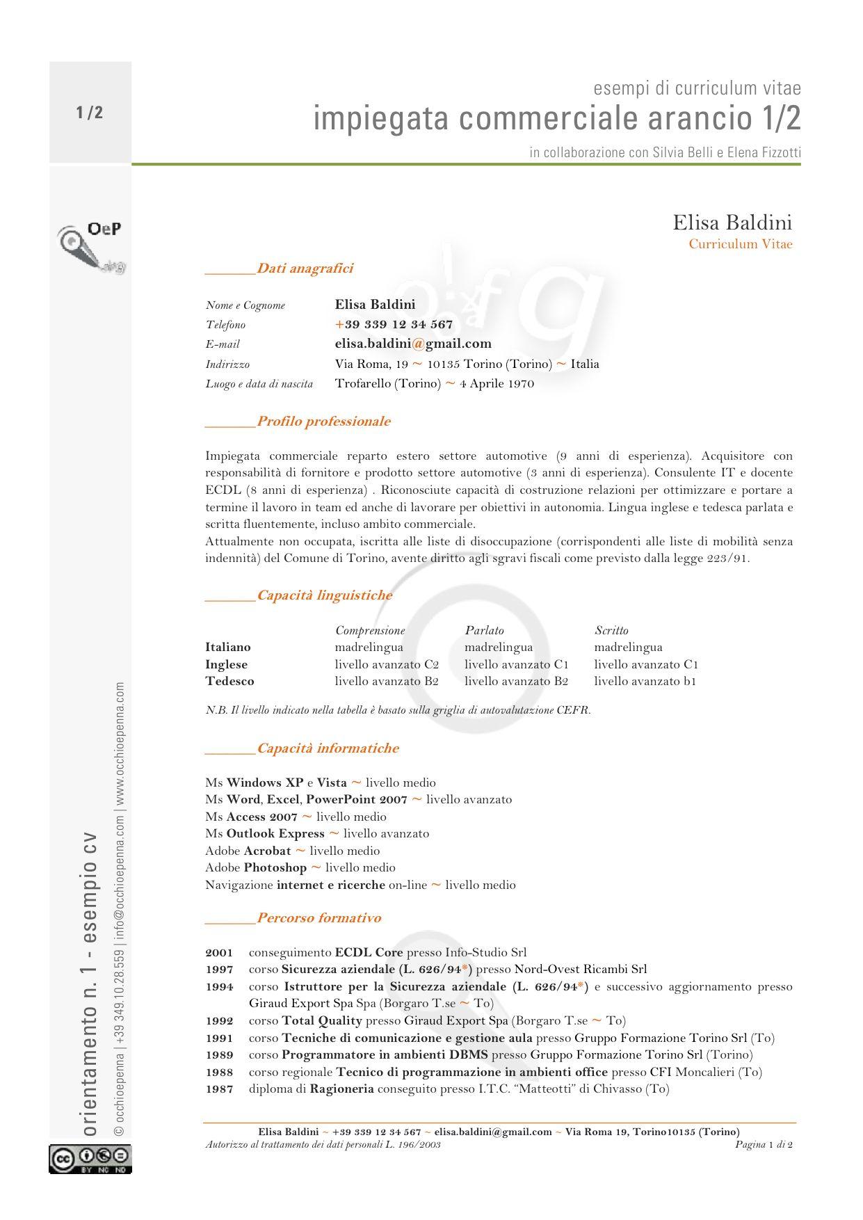 L Curriculum Vitae Europeo Con Imagenes Modelos De Curriculum