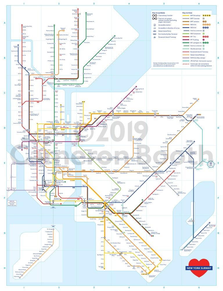 Nyc Subway Map Key.Transit Maps New Project New York Subway Map In The Style Of The