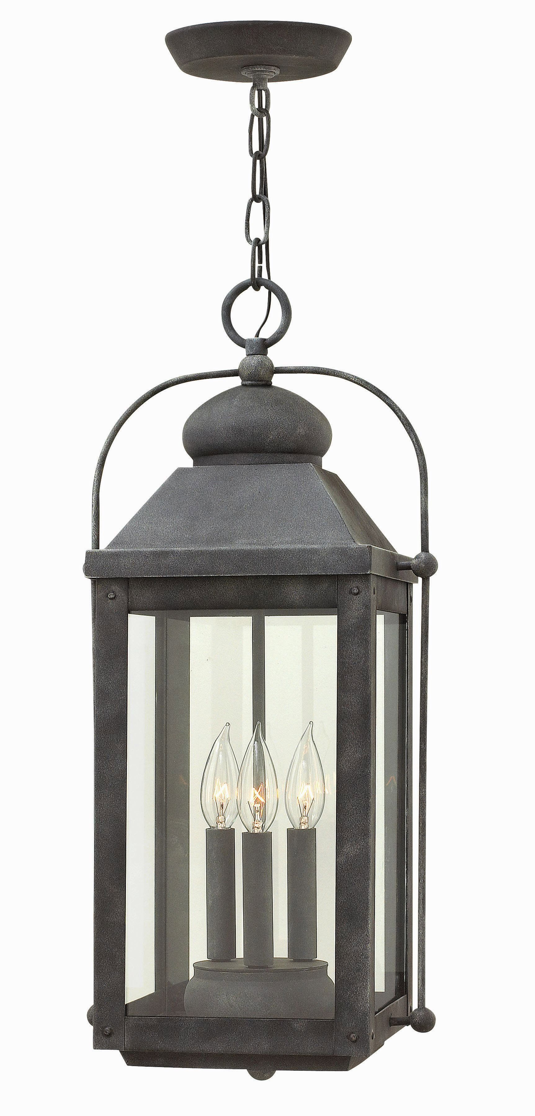 Hanging outdoor candle lanterns for patio - Anchorage Three Light Outdoor Hanging Lantern