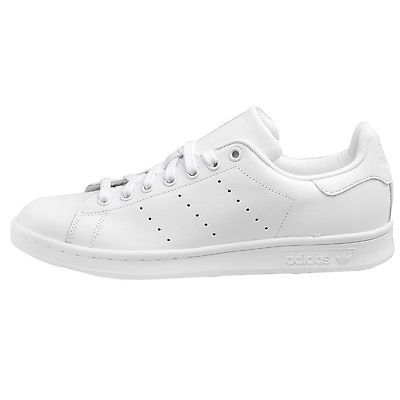 20d53afdd Adidas Stan Smith Mens S75104 All White Leather Athletic Shoes Sneakers Size  8
