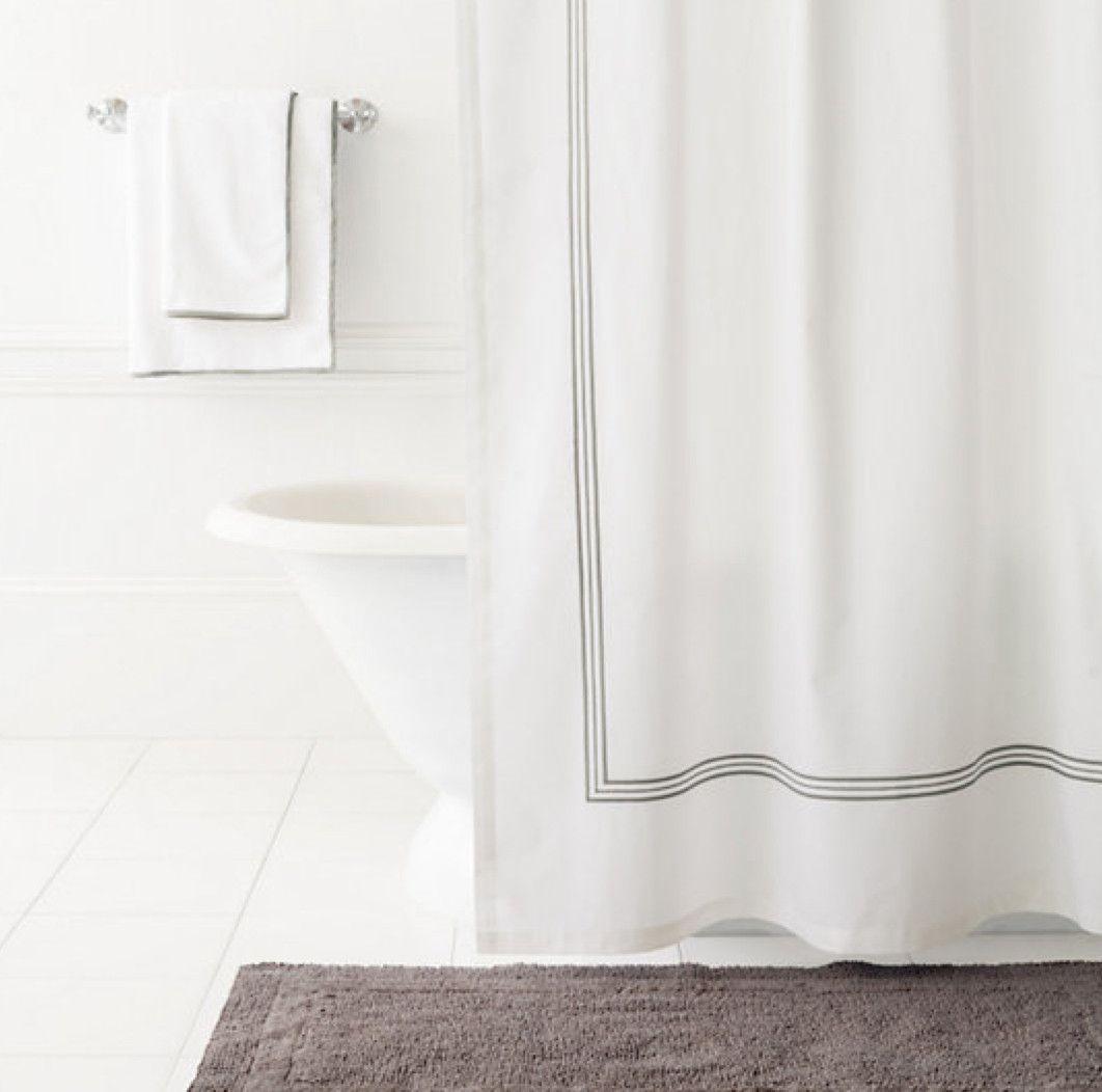 Shale grey shower curtain pinterest gray shower curtains
