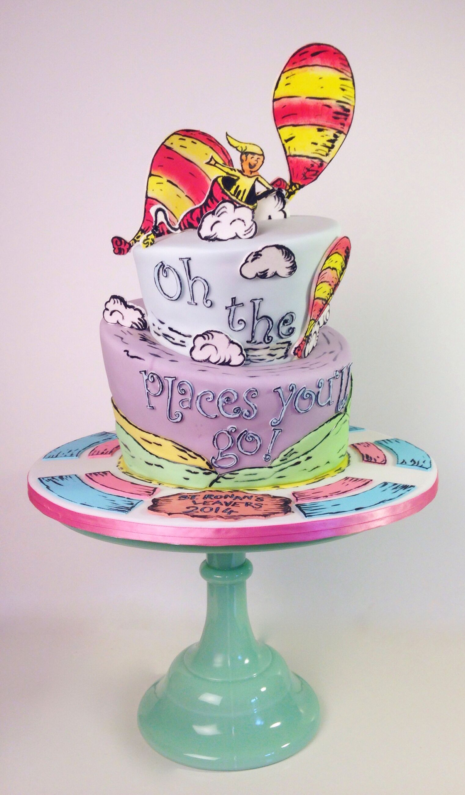 Oh the places you'll go - cake by www.flossiepopscakery.co.uk