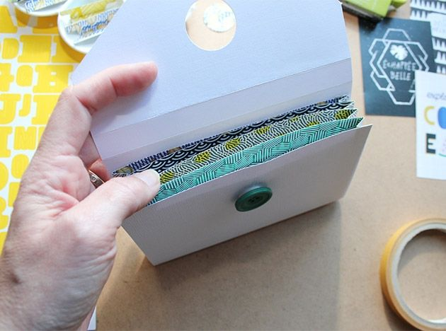 Epingle Par Marie Pascale Nador Sur Reliure Tutoriel De Confection De Mini Album Tuto Tutoriel