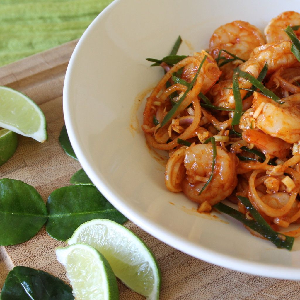 Cucina Povera Salad Thai Shrimp Salad With Kaffir Leaves Lemon Grass Della Cucina