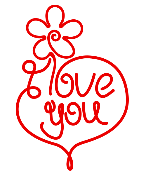 i love you image | symbols emoticons, symbols and svg file