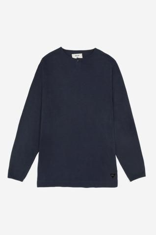 Men's Long Sleeve Button Tee (Navy) | Realm & Empire