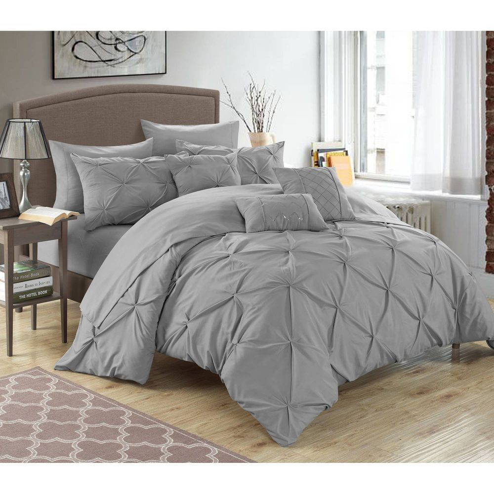 10 Piece Bed In A Bag Comforter Set Queen Size Pinch