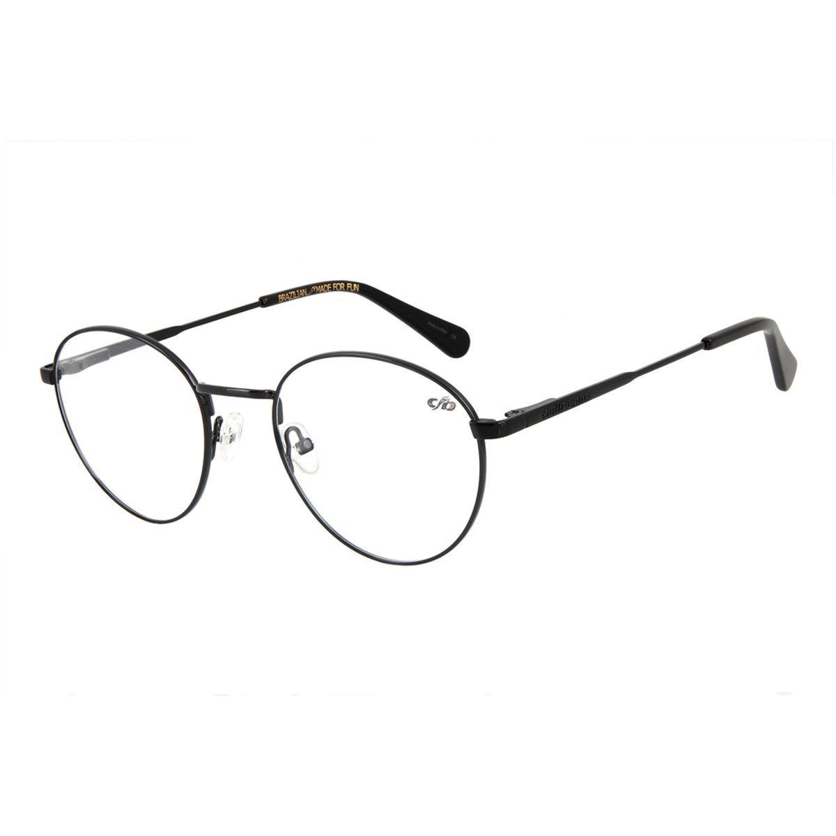 Armacao Para Oculos De Grau Unissex Chilli Beans Redondo Preto