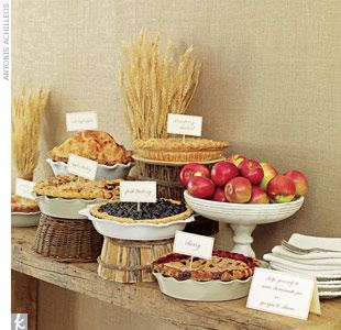 Rustic Country Wedding Ideas For Summer Dessert And Pie Table