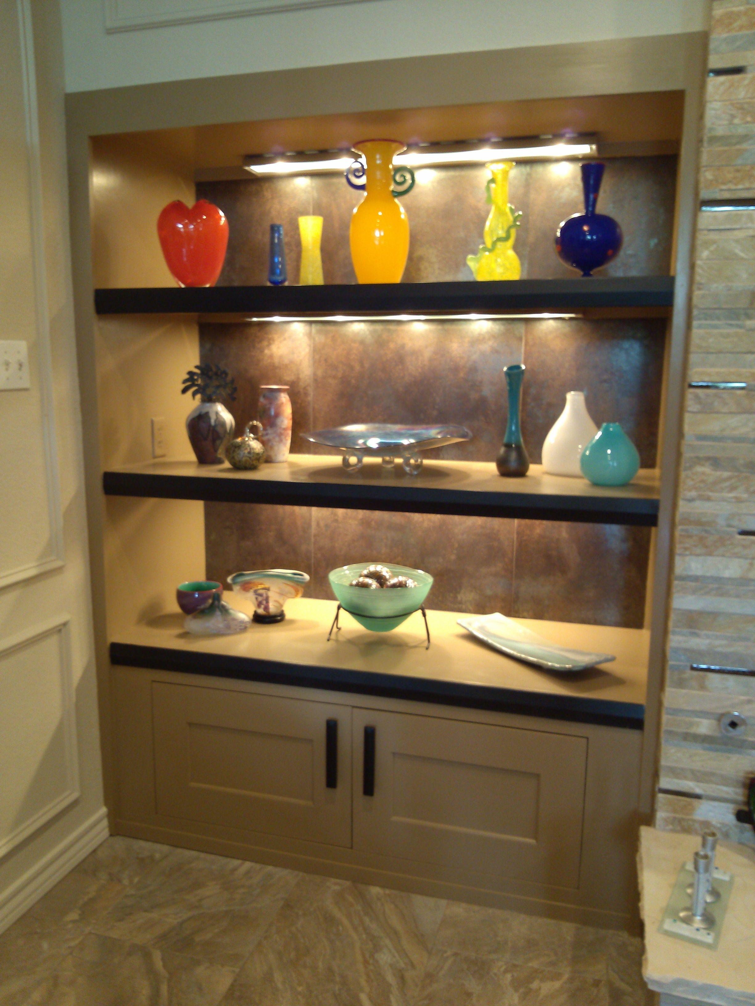 A beautiful custom display case we created for a past