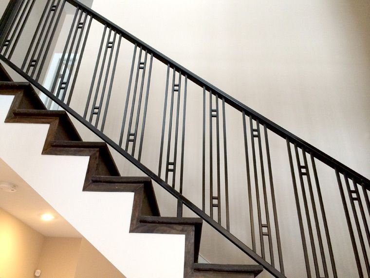 Custom Residential Railing In Northbrook Stair Railing Design Railing Design Craftsman Staircase