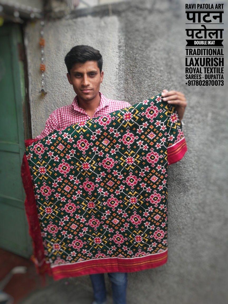086b1dc6a09c46 Ravi Patola art पाटन से पटोला Royal Traditional Laxurish Textile Handwoven  Patola silk Saree & Dupatta +917802870073