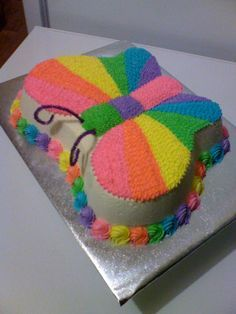 Rainbow Butterfly Cake This Is The One Amelie Said She Actually