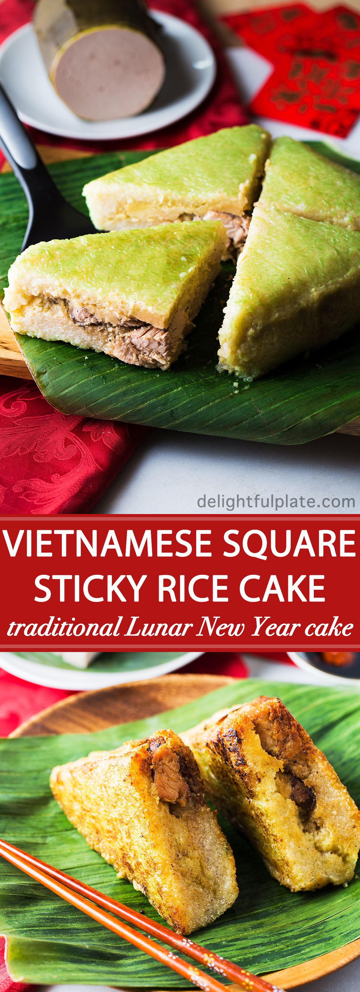 Vietnamese Square Sticky Rice Cake (Banh Chung) Recipe