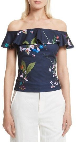 50bcac0d062 Ted Baker Women's Imygen Off The Shoulder Top | Products | Tops ...