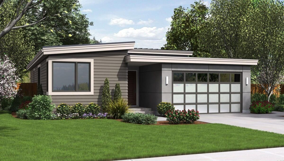 Flat Roof Insulation Myths Square Garage And Extension Of Garage Roof For Front Door Contemporary House Plans Narrow Lot House Plans Modern Style House Plans