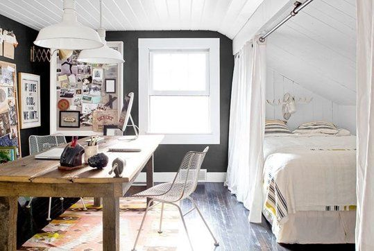12 ways to create a bedroom in a studio apartment for Dulce coffee studio