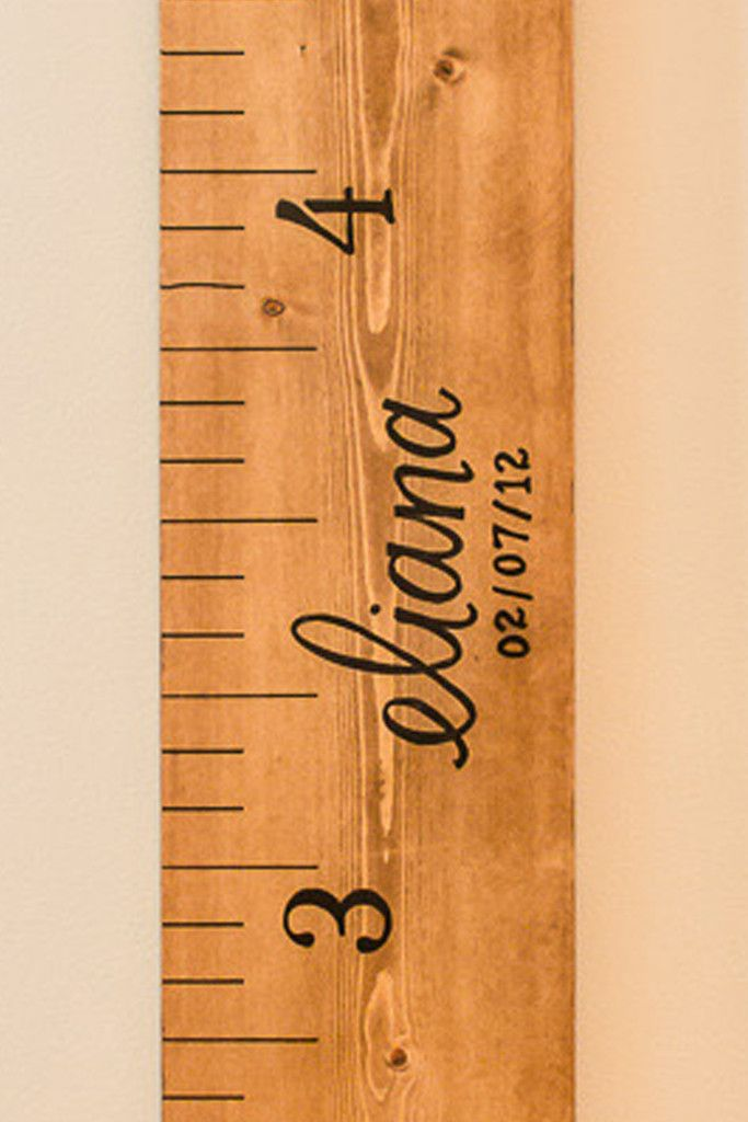 Little River Designs  Growth Chart Ruler  Natural  Personalized