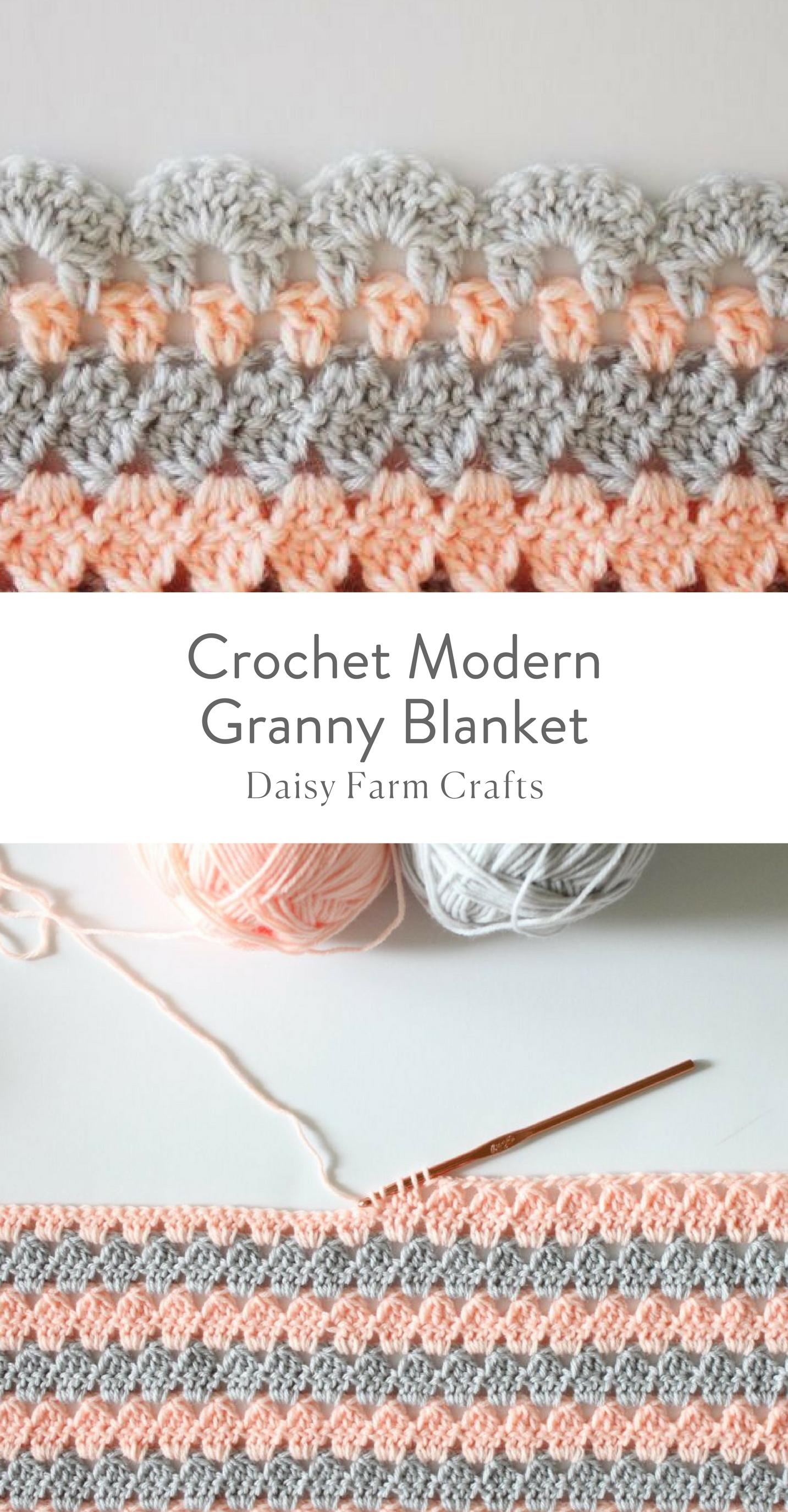 Free Pattern - Crochet Modern Granny Blanket | colchas | Pinterest ...