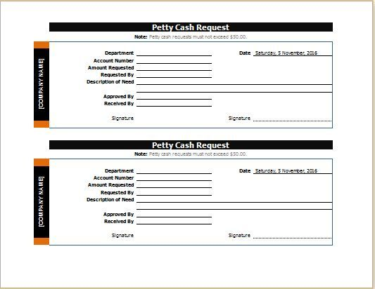 Petty Cash Request Slip Download At Httpworddoxorgpettycash Petty
