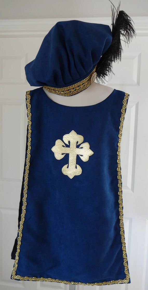New childs Renaissance Medieval tudor knight tunic tabard with hat ...