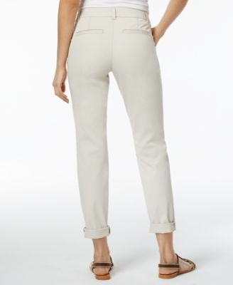 Style & Co Cuffed Slim-Leg Pants, Only at Macy's - Tan/Beige 20