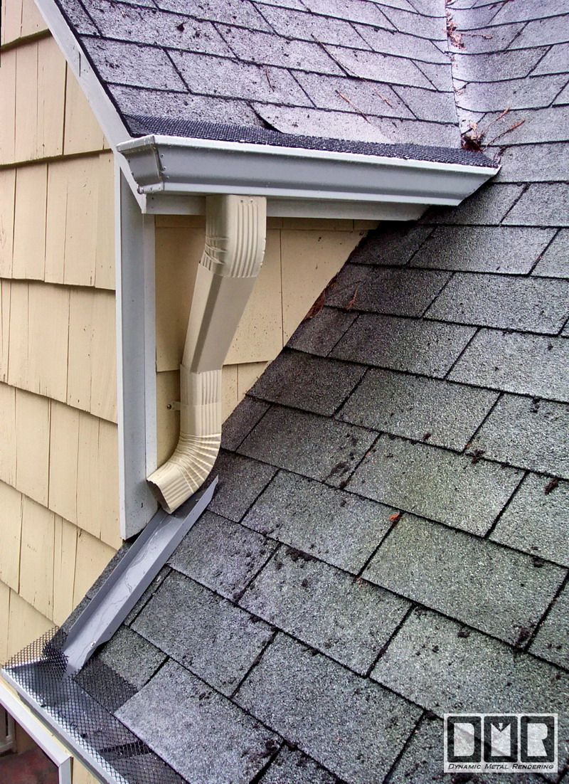 How to install a downspout in a gutter - Roof How Should The Gutters Be Installed On A Huge Gable Dormer