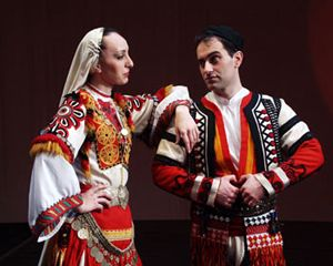 Bulgarian Traditional Costume from the Pirin region Bulgaria