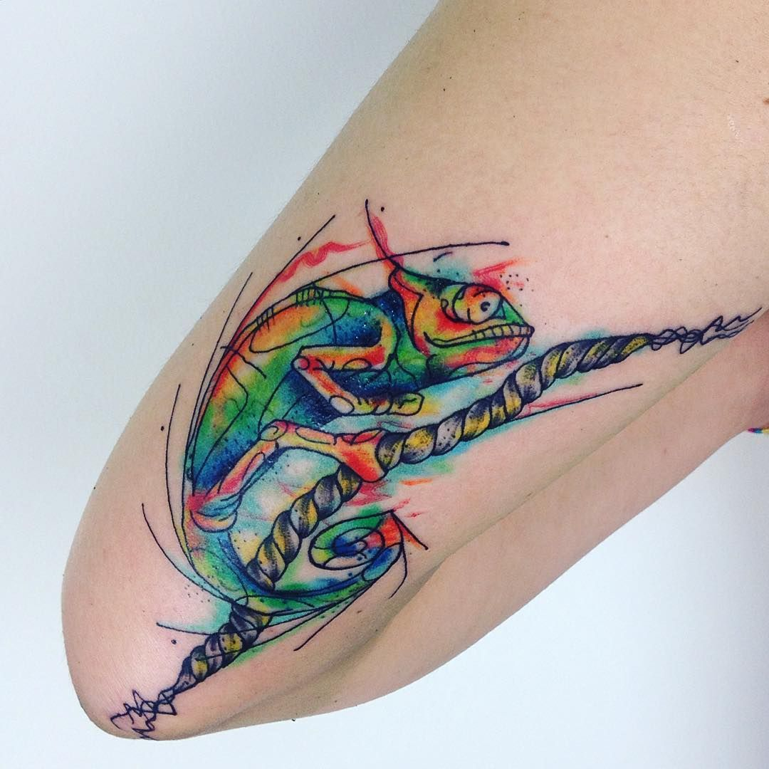 Aztec Chameleon Tattoo: Pin De Tattoo Influences Em Animal Tattoos