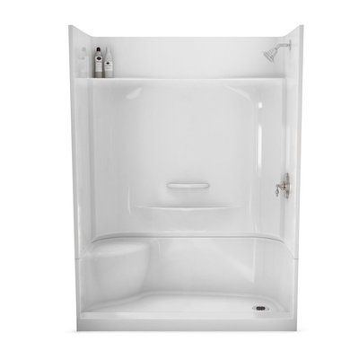 Maax Adesso White 30 In X 60 In 4 Piece Alcove Shower Kit With